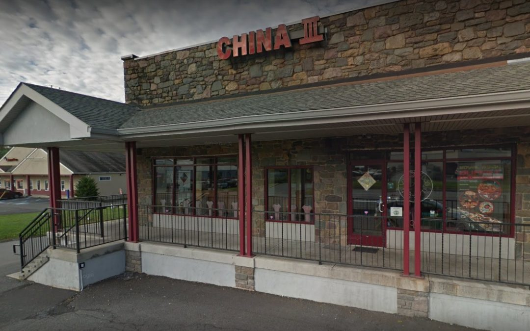 Live and dead cockroaches found at China III during inspection at Tannersville restaurant on Route 611