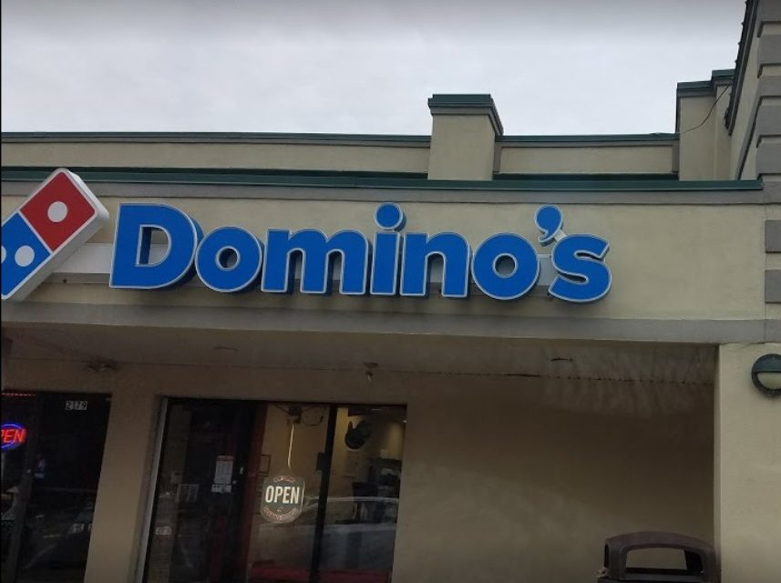 Cans of paint and spray bottles of cleaners stored with pizza boxes; Bensalem Domino's Pizza fails inspection with 8 violations