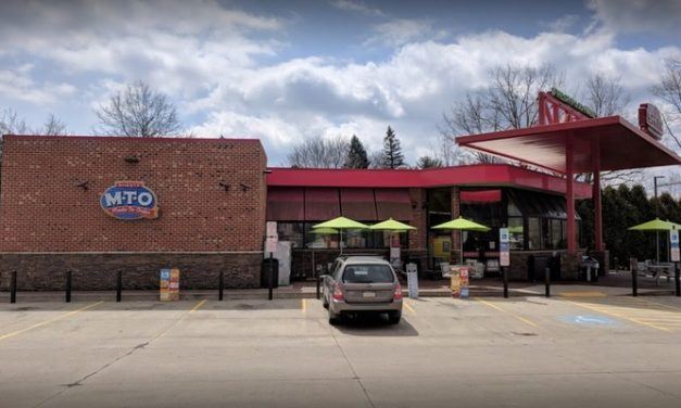 New Castle Sheetz fails follow-up inspection; rodent excrement pellets found on sales floor/frozen,uncarbonated beverage cabinet area