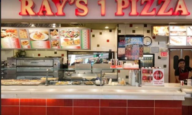 Ray's #1 Pizza at Montgomery Mall blows inspection; Live roach like insects inside of unused soap dispenser, 8 violations