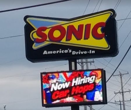 Sonic Drive-in Willow Grove; Interior ceiling of ice maker with white substance, 8 Health Department violations