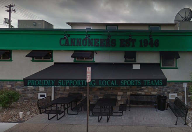 Cannoneers Sportsmens Club fouls inspection; Soda gun holsters at bar observed unclean with accumulation, fails 8th inspection since August 2016