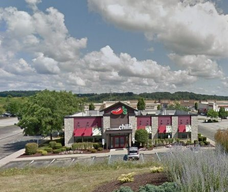 Chili's Grill and Bar in Greensburg fumbles 2nd inspection this month; Food containers stored in dry storage shelf were observed with encrusted food residue, 2 violations