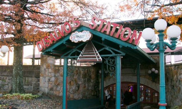 Latrobe's Di Salvo's Station fumbles inspection; Soda dispensing nozzle and holster was observed with an accumulation of pink slime inside, soap and paper towels were not available at the sink in both bar areas