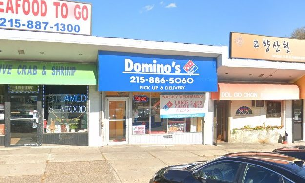 Storing pizza boxes on the floor, Domino's in Elkins Park slapped with 23 Health Department inspection violations, no soap at hand kitchen sink