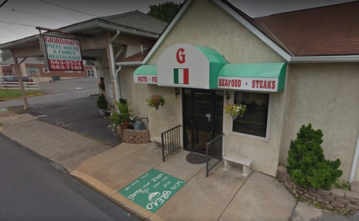 Giordano Pizza House in Pen Argyl fouls inspection; insect activity in storage areas, black mold-like substance located within pizza station/front counter bain marie