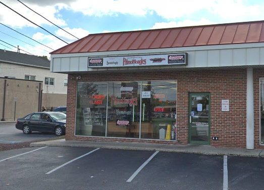 """Primo Hoagies in Conshohocken flubs inspection; """"Mouse like droppings observed at floor around 3 compartment ware wash sink and dry storage room"""""""