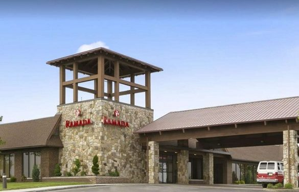 Inspector: Ramada by Wyndham Greensburg Hotel & Conference Center; 12 violations, pink slime inside soda fountain nozzles, slimy, stagnant water, old beer and food debris in the reach in keg cooler in the bar area