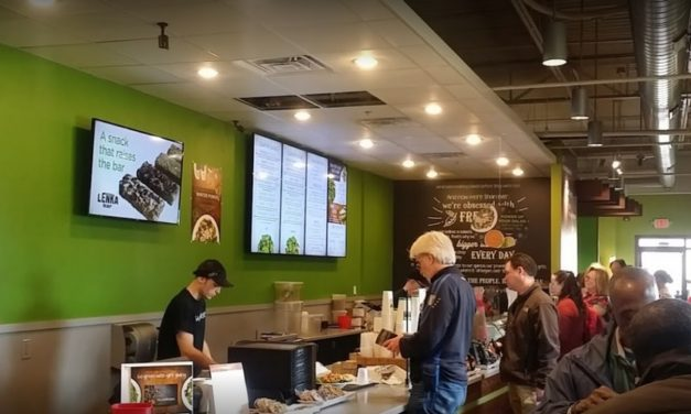 Village at Newtown Saladworks blunders inspection; Ice chute on the soda machine is accumulating a black mold-like substance
