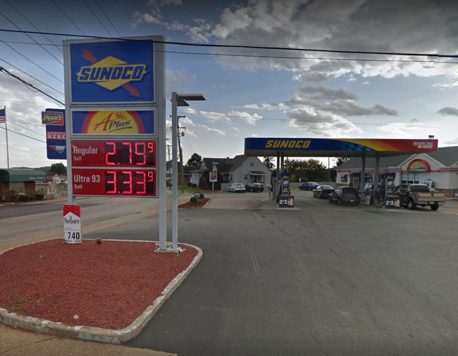 """Arnold, PA Sunoco dinged by inspectors for, """"Gallons of water, a food product were stored in the employee restroom,"""" 8 violations"""