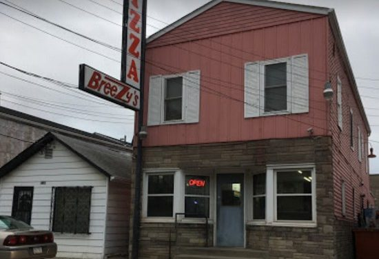 11 violations for Breezy's Pizza in Aliquippa; wiping cloths in extremely unclean condition, bucket of road salt under the sheeter in the kitchen