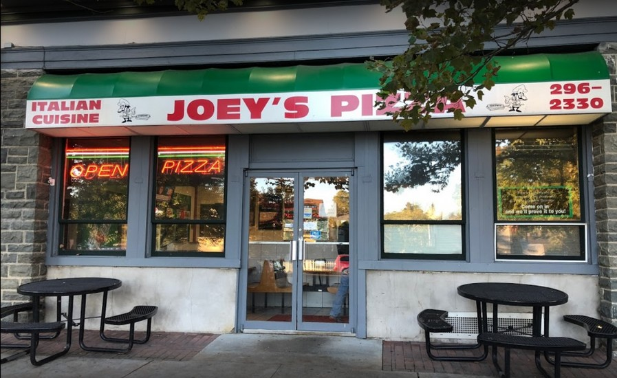 Joey's Pizza in Milford fumbles inspection; Prep table observed to have wad of used chewing gum on table surface, 15 violations