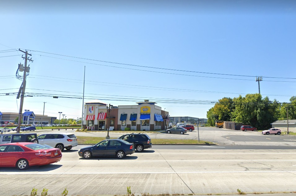 Inspection at KFC-Long John Silvers in Mechanicsburg; Ice holding area, a food contact surface, was observed to have mildew like residue, 10 violations