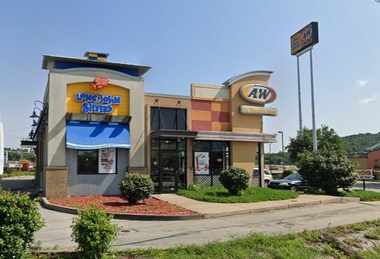 Long John Silvers/A&W in Belle Vernon; Black build up- mug cooler, soft serve machine and interior/exterior of front line cooler, fouls 3rd inspection in 2020