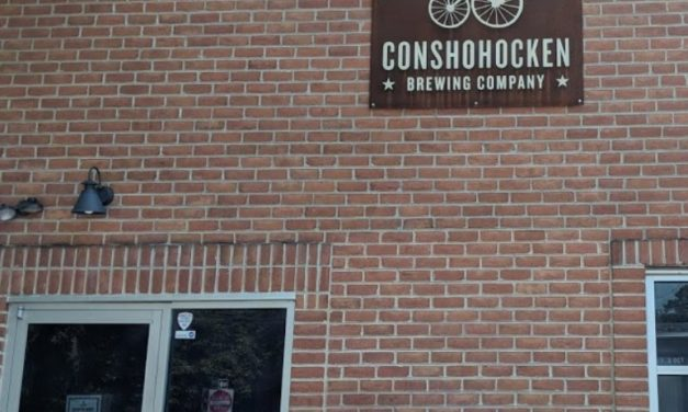 Conshohocken Brewing Company fumbles inspection; hot water turned off on 3-bay ware washing sink, Hand sink obstructed, 6 violations