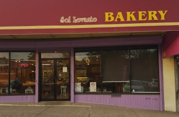 15 violations at Sol Levante Bakery in Elkins Park; Toothpaste, toothbrushes, and mouthwash stored with clean utensils and on prep tables in kitchen, 15 violations