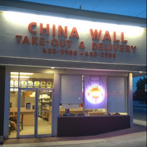 China Wall in Hanover; 13 violations, Food debris and residue on cooler shelving- not clean to sight and touch