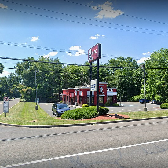Fairless Hills KFC inspection; Mold-like accumulation spout drive-thru beverage dispenser, ice machine contains a mold-like substance