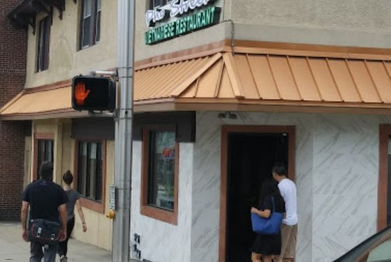 18 violations says Health Department of Pho Street in Bryn Mawr; Utensils stored in stagnant water, Clean equipment stored under open staircase