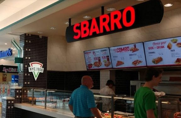 Westmoreland Mall Sbarro's fouls 2nd inspection in 2 weeks; 4th repeat violation- Black filth observed on the interior of the ice machine