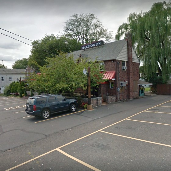 The Oreland Inn fumbles inspection; No soap at kitchen hand sink, Spray bottles of cleaner stored on prep table in kitchen by slicer