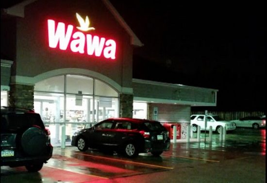 King of Prussia Wawa bumbles inspection; Splash guard of ice machine unclean, back splash of cappuccino machine unclean