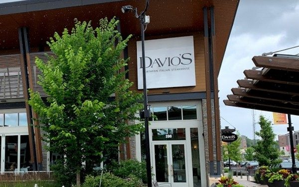 17 violations Davio's Steakhouse in King of Prussia; Mold-like growth on wall at warewashing station, Rust build-up on shelves in walk-in cooler, hand sink blocked