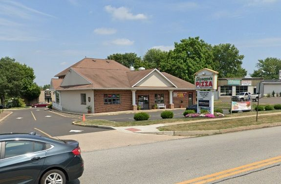 Inspection Giuseppe's Pizza in Lansdale; Drain fly-like insects observed at waitstaff station, Soda gun holster unclean with accumulation, Interior of ice machine unclean