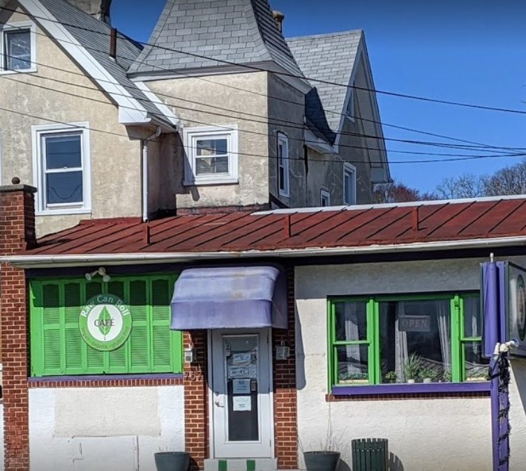 Raw Can Roll Cafe in Wayne fouls inspection; Rodent droppings, Rear Freezer observed at 52 F. Bagged corn discarded during inspection