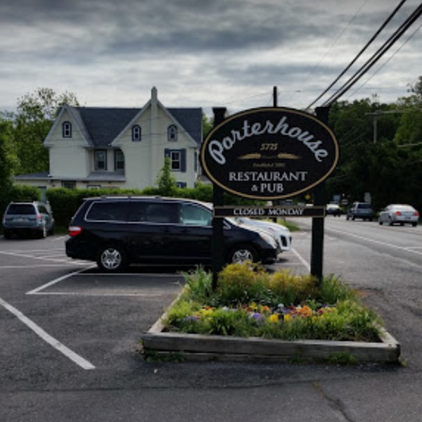 Porterhouse Restaurant in Lahaska bumbles inspection; Chemical buckets for the dish machine are being reused as food storage containers