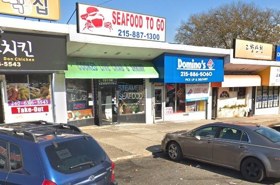 25 violations at Seafood to Go in Elkins Park; Pink mold like accumulation on white interior shield of ice machine, Dead rodent-like animal observed in basement, many employees in facility observed without face coverings