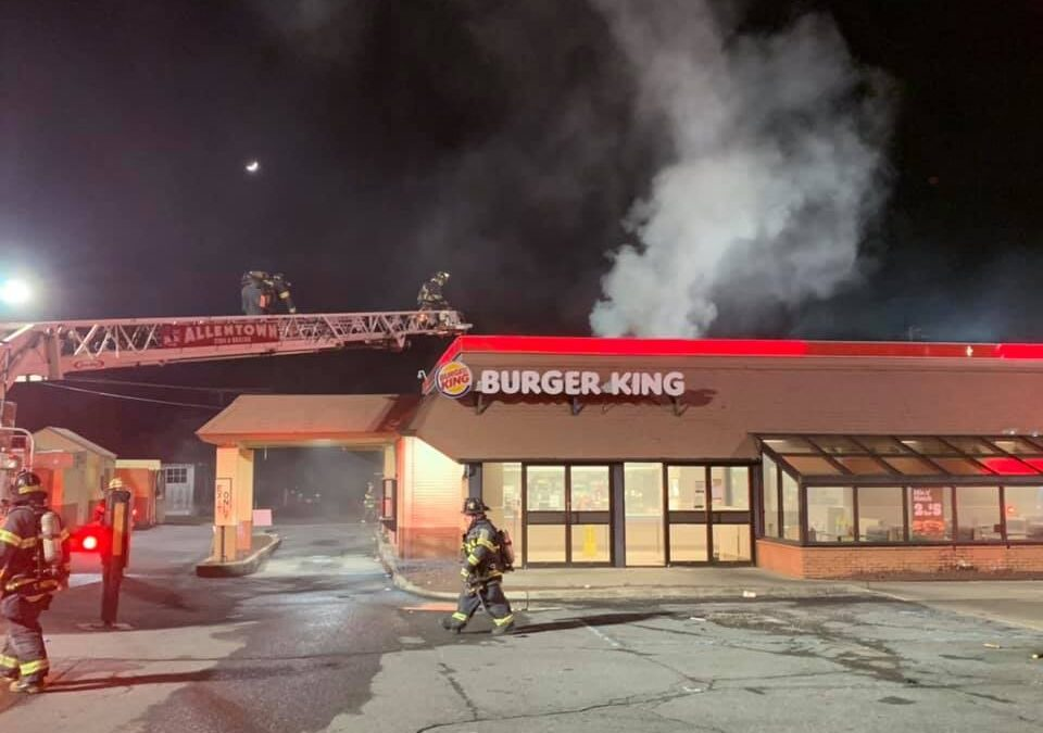 2nd fire in two months; Allentown Burger King closed following fire that began in hood system