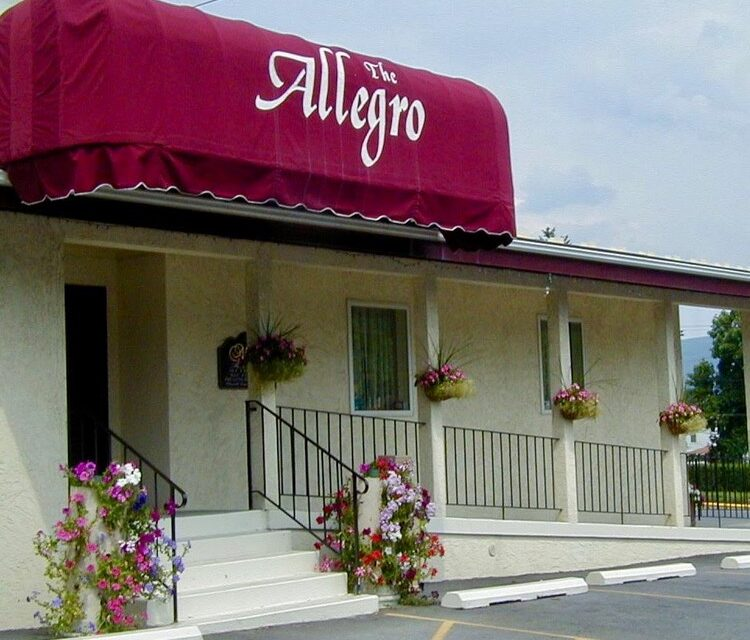 The Allegro in Altoona inspection; about 50 rodent droppings in basement, slimy debris noted inside the soda gun holders at the bar