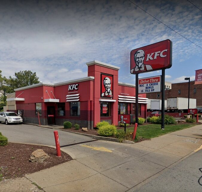 Wilkinsburg KFC inspection; Employee handling food with exposed band-aid on left forearm, Cell phone and cigarette rolling paraphernalia with food