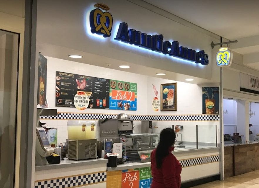 "King of Prussia Auntie Anne's bombs inspection, ""several dead roach like insects observed"" 7 violations cited"