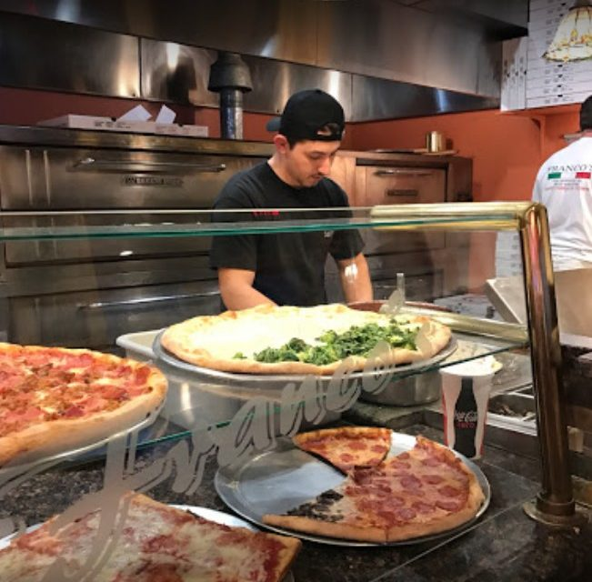 Food debris build-up on food slicer, Francos Pizza Family Restaurant in Collegeville slapped with 13 violations from Montco Health inspector