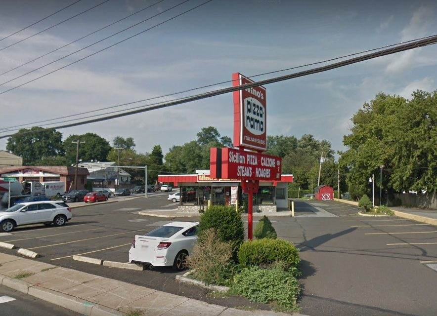 Nino's Pizzarama inspection; Mice-like droppings observed on floor in public restrooms, under shelves storing sodas, 18 violations