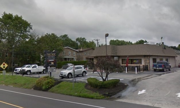 3rd inspection this month; Mice-like droppings observed on floor in front pizza prep, behind prep refrigerator, and under shelf, Fireside Grille in Ambler fails another