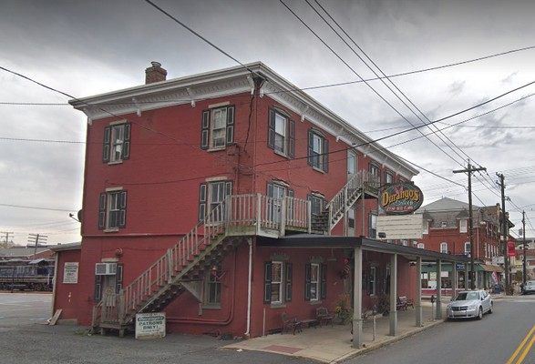 Inspection: Boyertown's Durango's Saloon, Beverage Air Beer Cooler at the Bar, has observable standing water and black mold build up, 15 violations
