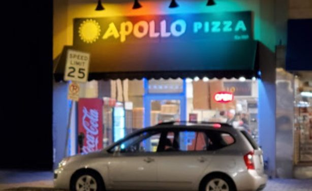 "19 violations for Apollo's Pizza in Gleside; storing bread in black trash bags, rodent like droppings ""on floor throughout kitchen areas with some droppings on prep table """