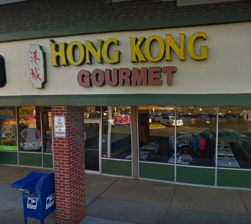 Richboro's Hong Kong Gourmet bumbles inspection; Cooked chicken was observed cooling by the exit door with the door propped open