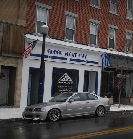 Greek Meat Guy fouls inspection in Easton; Gyro knife and the fry cutter were covered with food debris, not correctly cooling octopus