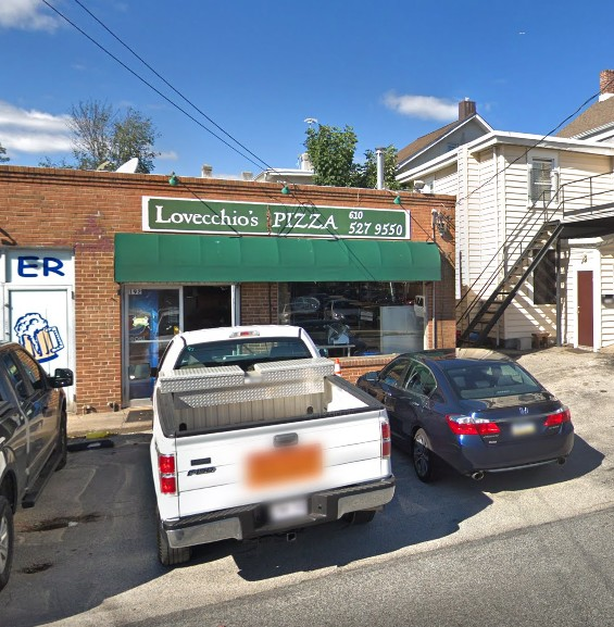 Lovecchio's Pizza in Bryn Mawr flops inspection; 14 violations, rodent droppings found throughout the perimeter of the food facility, in storage bins