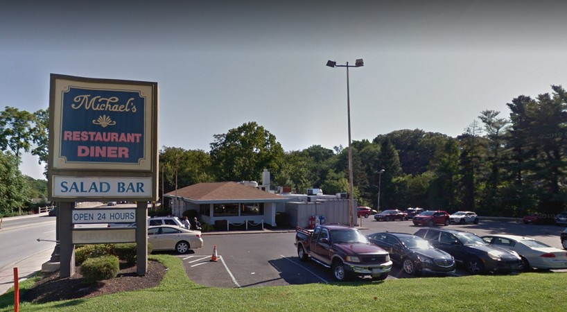 34 violations for Michaels Family Restaurant in Glenside; Rodent-like droppings observed in basement in storage room, prep room, and employee bathroom with droppings observed on floor mixer. Live rodent-like animal observed in basement