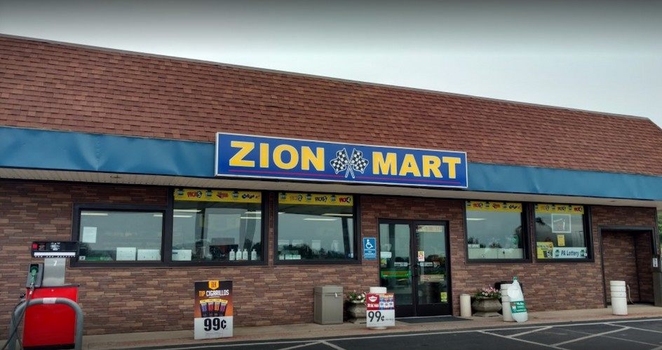Bellefonte's Zion Mart bumbles inspection; Approx 200 old, dried rodent droppings on shelves under self serve milk shake machine