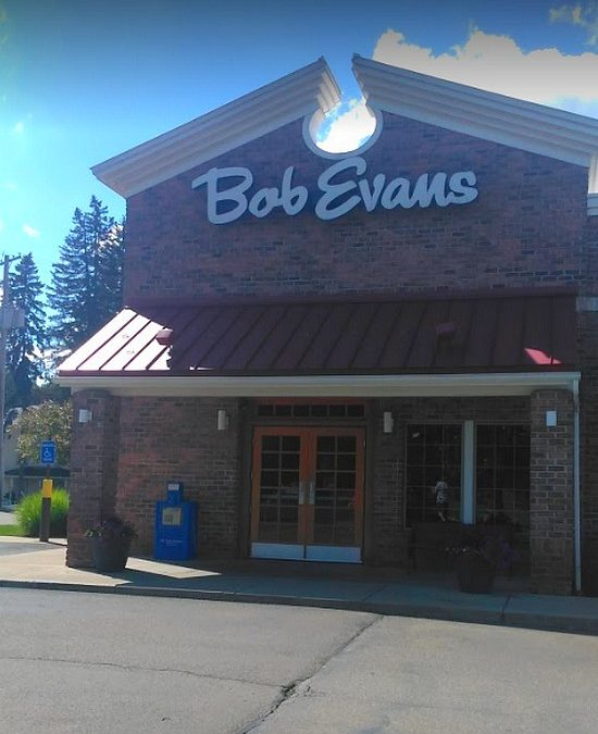 "Bob Evan's Restaurant bumbles inspection in Warren; ""dish machine has a heavy build up of slimy residue on the top of unit, on the interior and outside of the doors, on the bottom of the unit and the floor beneath"""