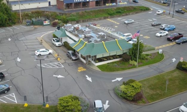 Inspection at McDonald's in Baden; black, slimy buildup in the ice machine, a food contact surface, 3 violations