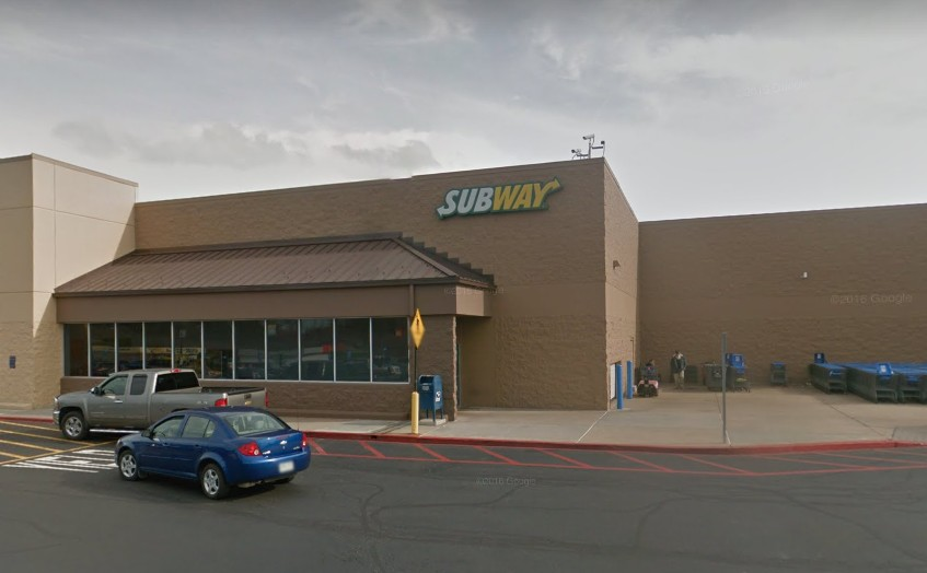 """Mt Pleasant Subway in Walmart fouls inspection; """"Small amount of pink/black build up in ice machine. . DO NOT USE. Please empty ice machine COMPLETELY!!"""" 9 violations"""