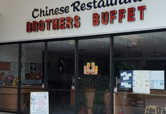 Inspection Brothers Buffet in Pottsville; Glueboard soiled with dead insects sitting on top of dishwasher, soiled hand wash sink knobs, 10 violations