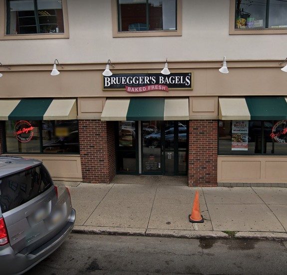 Pittsburgh Bruegger's Bagel ordered to CLOSE; Employee found to be actively cleaning sewage backup, tracking debris throughout facility